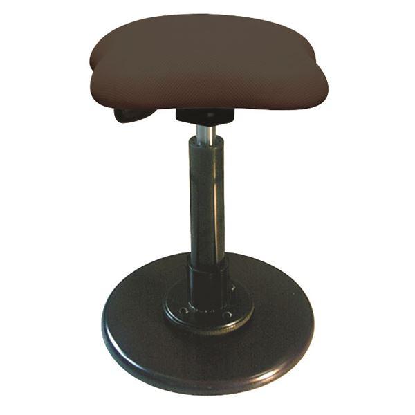 モダン スツール/丸椅子 【ブラウン×ブラック】 幅33cm 日本製 スチールパイプ 【代引不可】【日時指定不可】