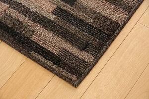 ラグマットカーペット3畳抗菌防臭防ダニタフト国産『マットーネ』ブラウン約190×240cm