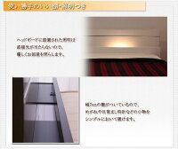 棚照明付ラインデザインベッドセミダブルSGマーク国産ポケットコイルマットレス付ホワイト【】