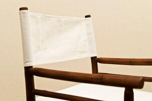 ディレクターズチェア(ガーデンチェア)折りたたみ可本体:バンブー(竹)肘付き洗える/座面・背もたれ【完成品】【代引不可】