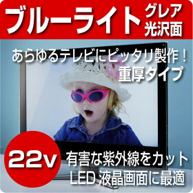 液晶テレビ保護パネル22型【厚3ミリ【重厚】タイプ】グレア仕様【液晶保護パネル】