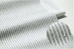 ミシンがけも楽々!!小物づくりに最適なラミネート生地です。生地・布≪ NATURE-stripe ≫ラミネ...