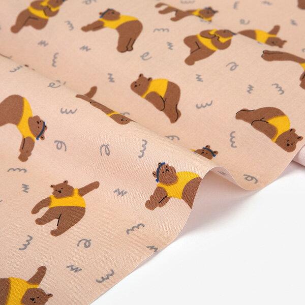 手芸・クラフト・生地, 生地・布 102910:59 108cm Yoga bear 10cm