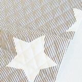 【入園入学セットレシピ】生地・布・入園入学≪ Cocoa gray star ≫キルティング/幅105cm【10cm単位販売】【男の子】【星】【ポップ】【ベーシック】【ストライプ】【グレー】│ココアグレースター│キッズ