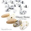 ラインストーン ジルコニア製 グロッシーストーン(Grossy stone) Vカット/リーフ クリスタル 3サイズ