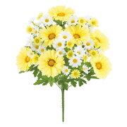 フレッシュガーベラ/デイジーブッシュ(イエロー)【春の造花・アートフラワー】