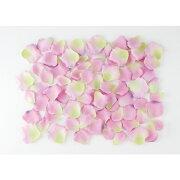 ローズペタル(約120枚/パック)(ペールラベンダー/グリーン)【バラの花びらの造花】