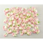 ローズペタル(約120枚/パック)(ピンク/グリーン)【バラの花びらの造花】