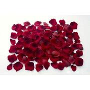 ベルベットローズペタル(約120枚/パック)(レッド)【バラの花びらの造花】