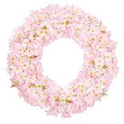 60cm桜リース(片面)【造花・アートフラワー】