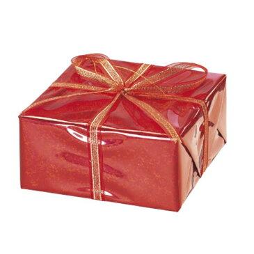 ハーフギフトボックス(L)(レッド)【クリスマスオーナメント(ギフトボックス)】