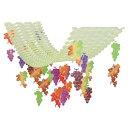 ぶどう プリーツハンガー(4100780)[秋飾り,秋装飾,PH,ハンガー,販促グッズ]
