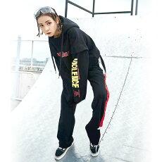 【3日以内に発送】赤のテキストプリントがストリートなワイドシルエット長袖パーカー原宿系ファッションレディースゆめかわいい服奇抜派手個性的ダンス衣装コスチュームヒップホップ韓国大きいサイズ180919