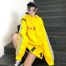 【即納あり】ラメ糸ナンバーロゴ刺繍のビッグシルエットハーフジップスウェットダンス衣装ヒップホップコスチューム韓国ファッション大きいサイズ個性的服原宿系