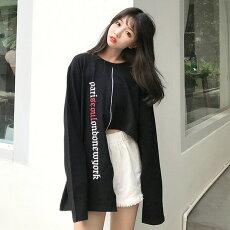 【3日以内に発送】アシンメトリーレングスのモード感溢れるプリントスウェットトップス原宿系ファッションレディースゆめかわいい服奇抜派手個性的ダンス衣装コスチュームヒップホップ韓国大きいサイズ190208