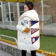 【3日以内に発送】 POPなワッペンがたくさん付いたフード付き中綿入りキルティングコート 原宿系 ファッション レディース ゆめかわいい 服 奇抜 派手 カワ 個性的 ダンス 衣装 ヒップホップ 韓国 大きいサイズ 161125