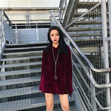 トップス パーカー ビッグシルエット ロングスリーブ 光沢感 レディース ファッション 大きいサイズ ダンス 衣装 ヒップホップ 原宿系 韓国系 個性的