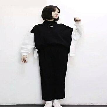 トップス トレーナー スウェット 長袖 ハイネック ツートン グリーン ブラック レディース ファッション 大きいサイズ ダンス 衣装 ヒップホップ 原宿系 韓国系 個性的