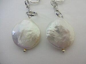 淡水パールイヤリング(ホワイト)