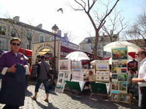 パリ・モンマルトル・テルトル広場