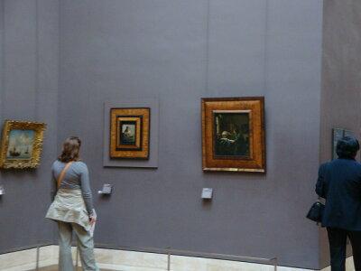 ルーブル美術館にあるフェルメールの2点「刺繍をする女」と「天文学者」