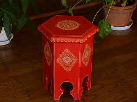 Tittawinティタウィンレッドウッドスツール花台アンティークアンティーク風雑貨オリエンタル赤家具