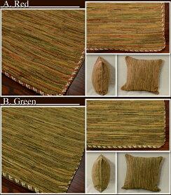 Maderaマデラクッションカバー45×452カラーピローケースおしゃれ北欧アンティーク雑貨アンティーク風グリーンレッド