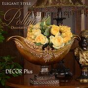 PolliniGoldポリーニゴールドゴンドラのようなコンポート置物ボウル花器アンティーク雑貨アンティーク風ロココ飾り