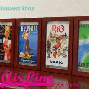 WorldAirLineワールドエアライン航空会社旅行広告のポスターアートフレームヴィンテージポスター額絵壁掛雑貨パリ