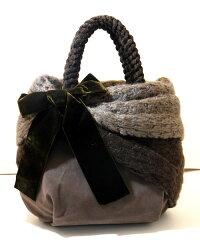 イタリアブランド KONTESSA(コンテッサ)ベルベットリボン ハンドバッグ