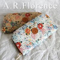 イタリア・A.F.Florence(A.F.フローレンス)/ フラワー ラウンド長財布