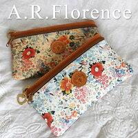 イタリア・A.F.Florence(A.F.フローレンス)/ フラワー 長財布&ポーチ