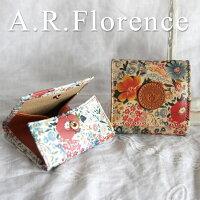 イタリア・A.F.Florence(A.F.フローレンス)/ フラワー 小銭入れ(BOX・正方形)