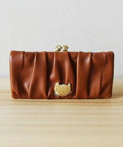 【送料無料】がま口の金具がネコの手に!イタリアのやわらかな革を使ったお財布tsumori chisato...