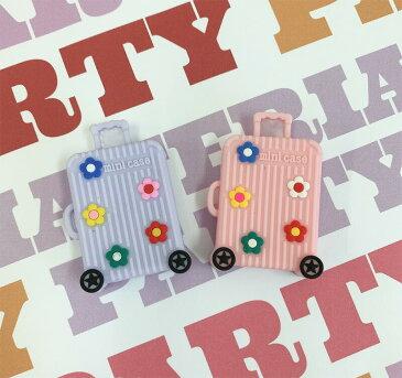 BIGラバー旅行バッグ/MATERIAL PARTY デコパーツ アクセサリー 材料 資材 パーツ 樹脂パーツ ハンドメイド 貼り付けパーツ キーホルダー ヘアゴム キラキラパーツ ネイル デコレーションパーツ チャーム ラバーパーツ