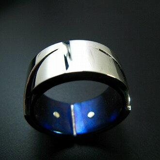 Invention チタン&シルバーアクセサリーリング/指輪 【ハンドメイド/手作り/メンズ/男性用/レディース/女性用/刻印】【smtb-k】【w3】