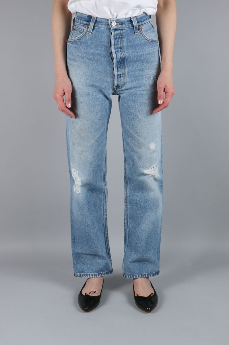 ULTRA HIGH RISE STRAIGHT LEG-NO DESTRUCTION(1030UHS)24size-1 RE/DONE -Women-(リダン):Deepinsideinc.Store