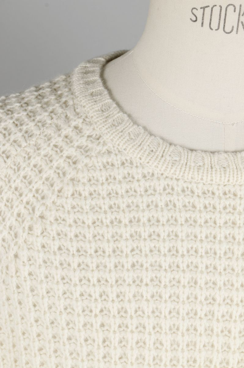 Miguel Waffle Knit Sweater - IVORY SATURDAYS NYC(サタデーズ・ニューヨークシティ)