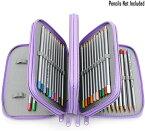 色鉛筆ケース 72本 筆箱 ペンシルホルダー 色鉛筆ホルダー シンプル 大容量 色鉛筆 収納ケース 人気 (色鉛筆なし)パープル