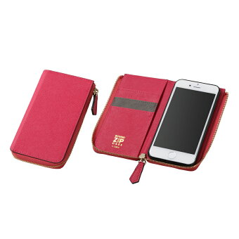 iPhone7Plusジッパー付きソフトレザーケースROUNDZIPCASEforiPhone7PlusAppledocomoauSoftbank【送料無料】