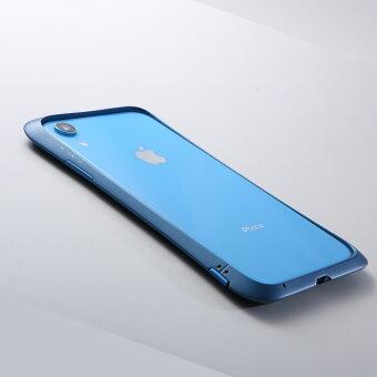 iPhoneXR用アルミニウムバンパーケースストラップホール付きアルマイト塗装CNC耐衝撃【送料無料】