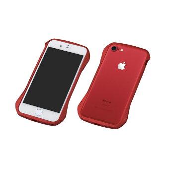 iPhone7アルミバンパーレッド