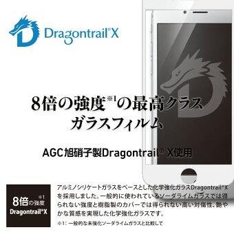 iPhoneXs/Xガラスフィルム二次硬化処理でガラス強化し割れにくくしたTOUGHGLASSケースと干渉しないフチのないフレームレスタイプ
