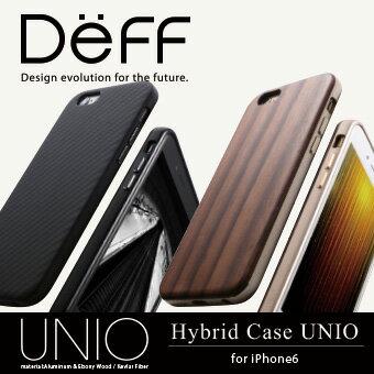 【Deff直営ストア】iPhone6Plus用HYBRIDケース「UNIO」ケブラーや天然木(黒檀)とアルミを使った保護力の高いケースHybridCaseUNIOforiPhone6【レビューキャンペーン対象商品】
