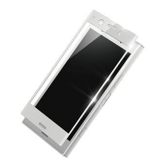 XperiaXZs強化ガラスフィルムラウンドした画面の端まで強力保護3D成形ドラゴントレイルX透明クリア割れ難いdocomoSO-03JauSOV35Softbank【送料無料】新製品