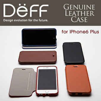 【Deff直営ストア】iPhone6Plus用本革レザーケースGenuineLeatherCaseforiPhone6Plus