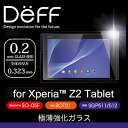 High Grade Glass Screen Protector for Xperia Z2 Tablet SO-05F、SOT21、SGP511/512用