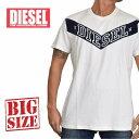 DIESEL ディーゼル 半袖 クルーネック Tシャツ T-NOEM ホワイト 白 XXL XXXL 大きいサイズ メンズ あす楽