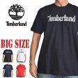 大きいサイズ メンズ ティンバーランド Timberland 半袖 ロゴ Tシャツ USA直輸入 XL XXL [TL-006-A]