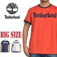 大きいサイズ メンズ ティンバーランド Timberland リンガー 半袖 ロゴ Tシャツ USA直輸入 XL XXL [TL-006-B]